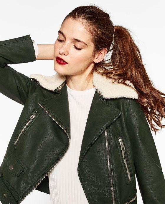 Zara Zara 5 Effet De De De Cuir Image Pinterest Blouson gAOBAw