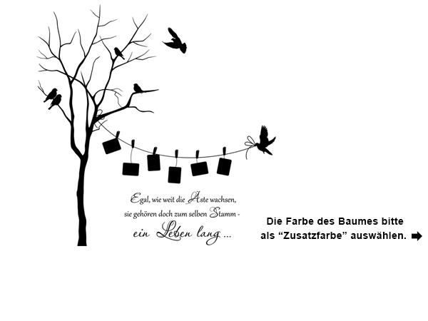 Wandtattoo Zweifarbiger Baum Mit Fotorahmen Design Wall Art