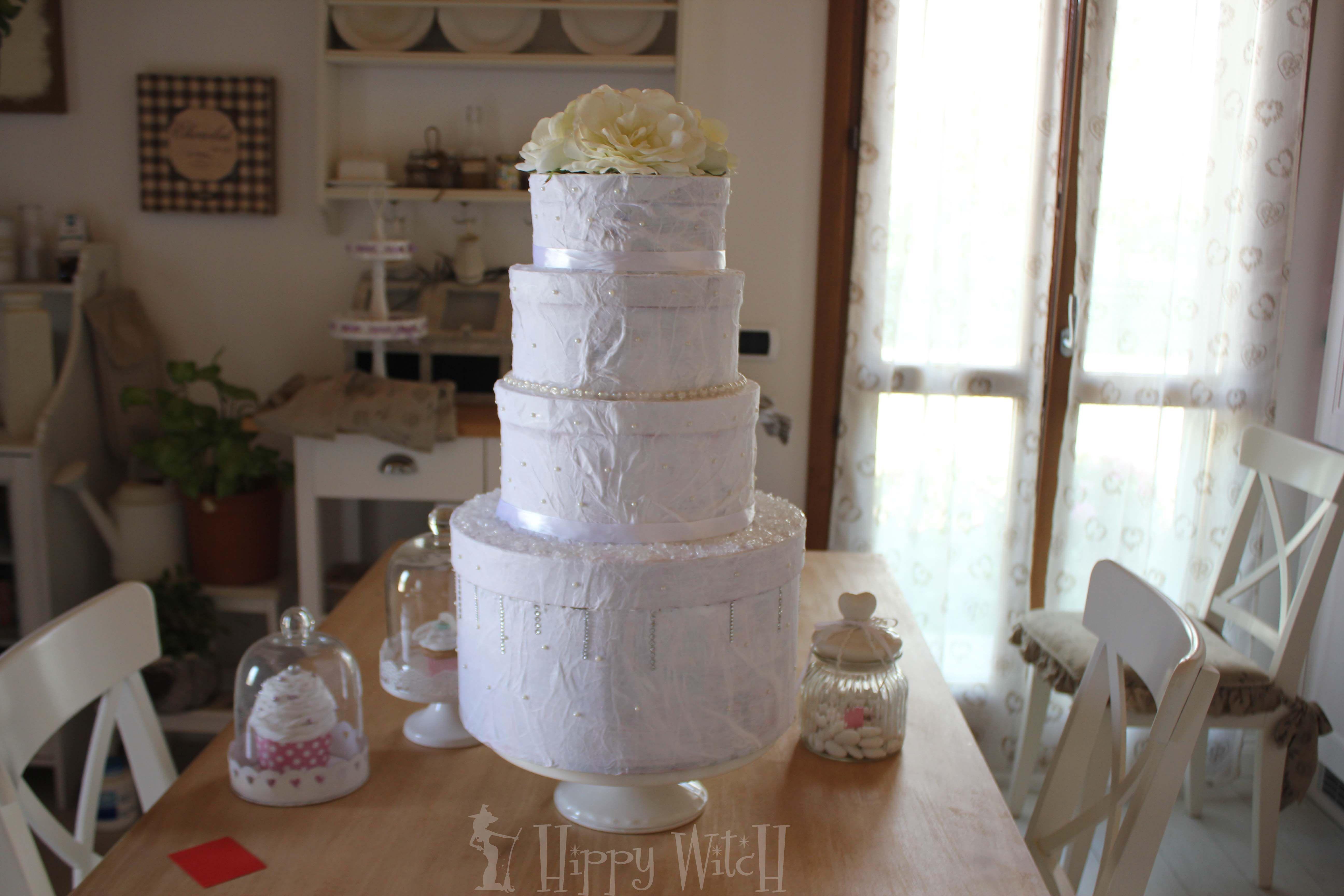 DIY Wedding Cake Card Box Torta Porta Buste FAI DA TE s