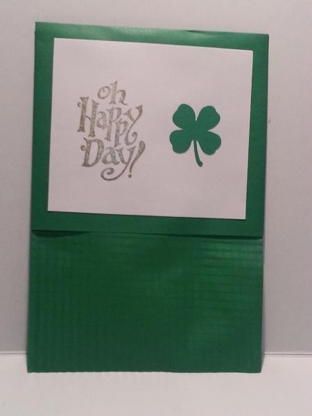 Oh Happy Day - St Patrick's day envelope gift holder