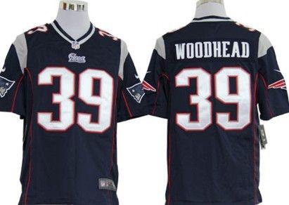 e71dfed0e Nike New England Patriots  39 Danny Woodhead Blue Game Jersey