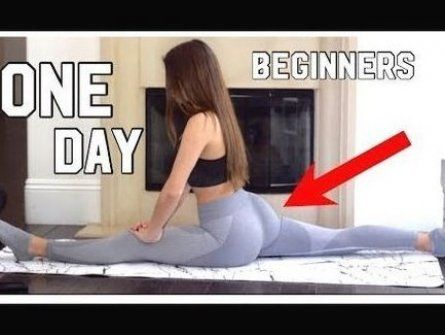 How to get your splits in ONE DAY  SIMPLE  FAST  EASY  for BEGINNERS - YouTube #fitness #workout #fi...