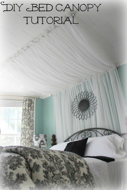 Or drape a sheer pattern to add dimension to a small room Diy
