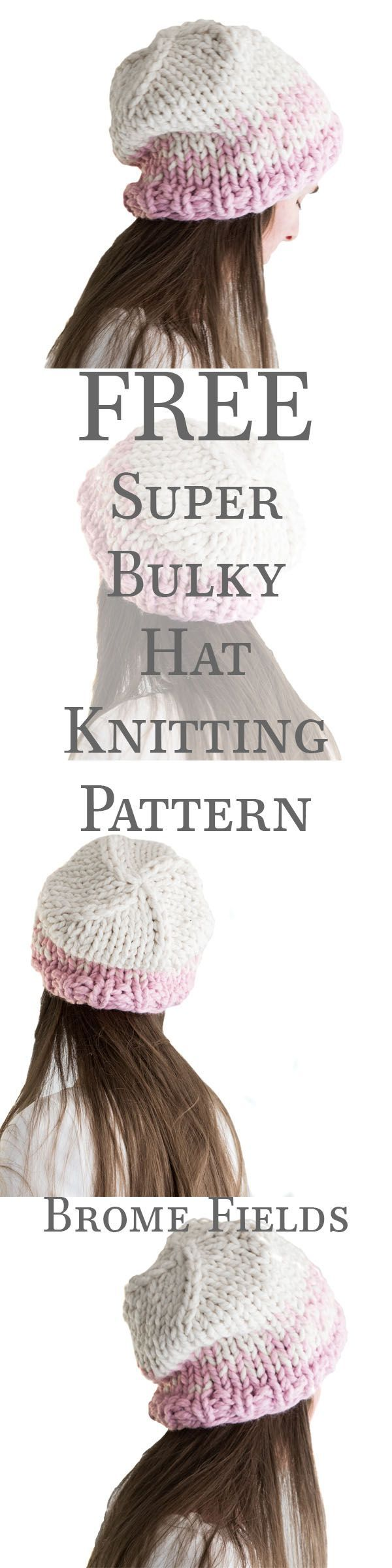 FREE Chunky Hat Knitting Pattern. Plus, 9 step-by-step video ...
