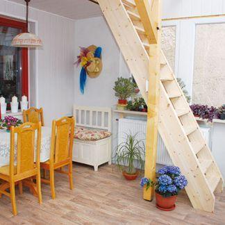 Pevné a ľahké drevené schody vhodné nielen na chalupu