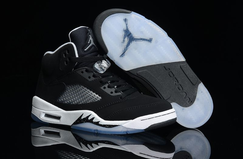 competitive price a5ca5 d12a5 Air Jordan Retro 5 Black White Black | Kicks | Nike air ...