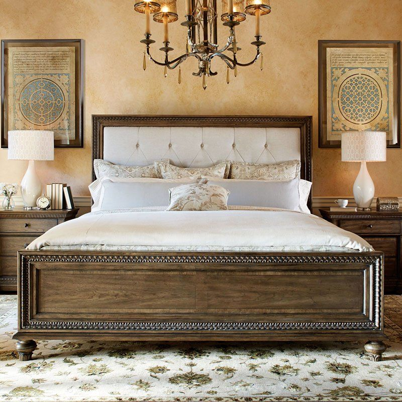 Renaissance panel bed in 2019 family room design - Renaissance style bedroom furniture ...
