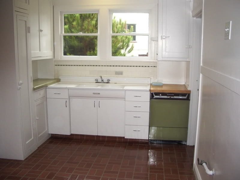 Window and sink are OK, but there was no green dishwasher ...