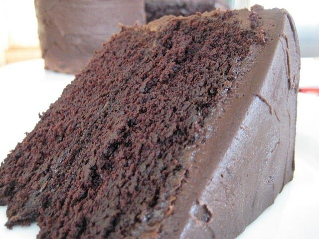 Dense Dark Chocolate Cake