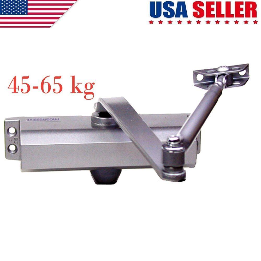 45 65kg Silver Aluminum Commercial Door Closer Heavy Duty Overhead