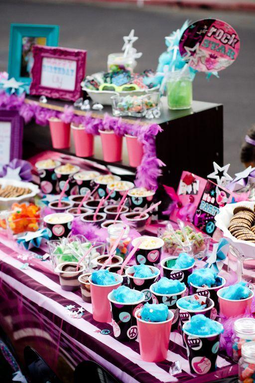Rock Star Party Popstar Candy Bar Pinterest Rock