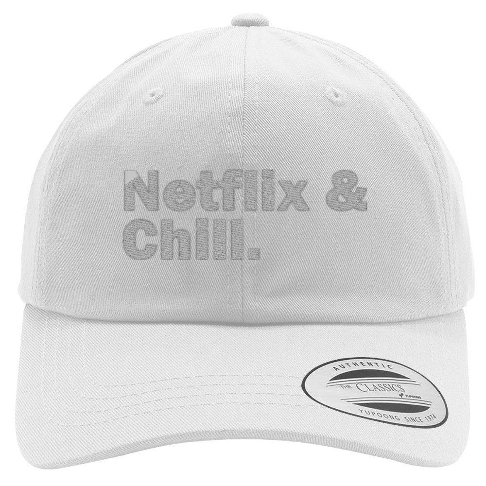 NETFLIX And CHILL Embroidered Cotton Twill Hat | Netflix, Custom ...