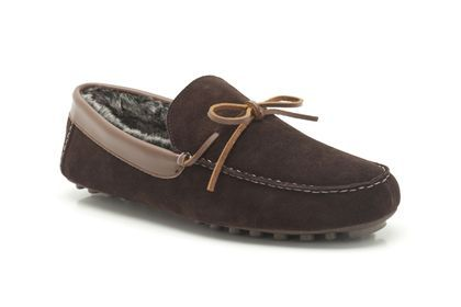 Mens Slippers in Brown Suede - Kite Aston from Clarks shoes