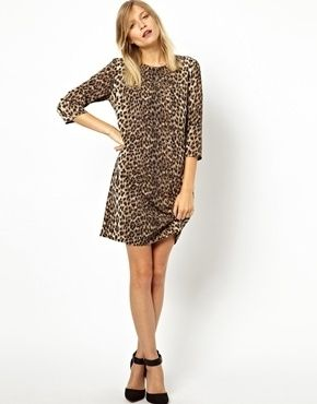 7f2e010a9ac7 ASOS Shift Dress in Animal Print | My Style | Animal print dresses ...