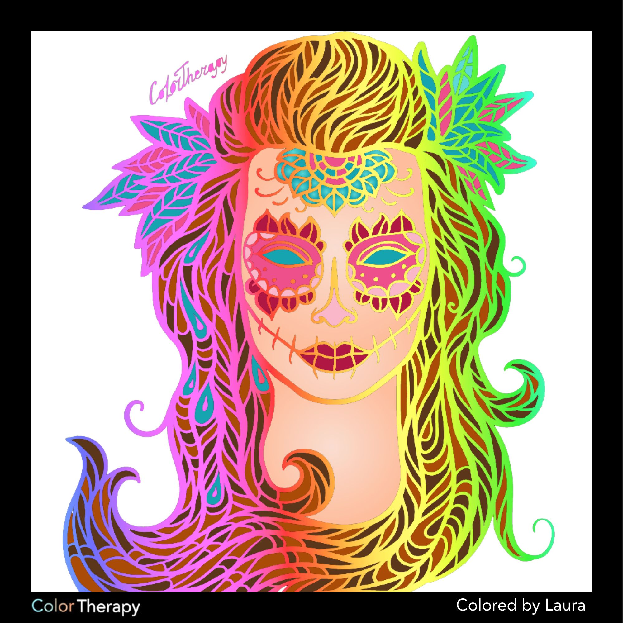 Art color therapy - I Colored This Myself Using Color Therapy App It Was So Fun And Relaxing