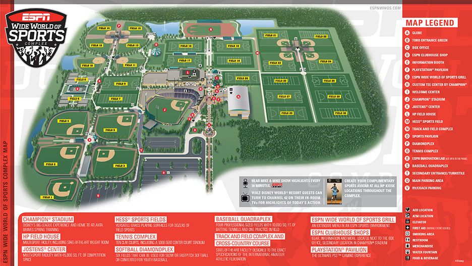 Spectator Information 2015 Pop Warner Super Bowl World Of Sports Sports Complex Sports Grill