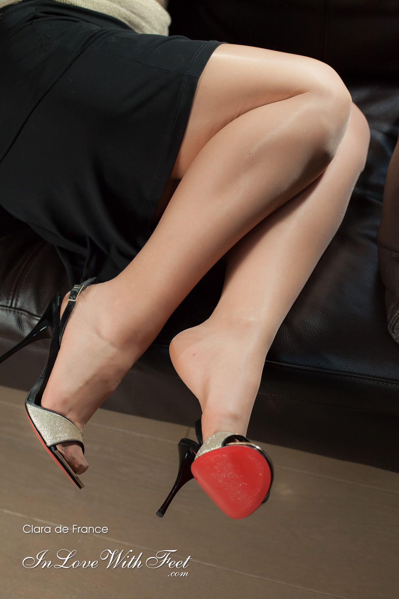 Womens Bedroom Slippers In Love With Feet Clara De France Sexy Nylon Legs N