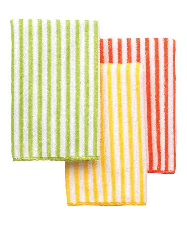 Take a look at this Warm Stripe Microfiber Bar Mop - Set of Three by Ritz on #zulily today!