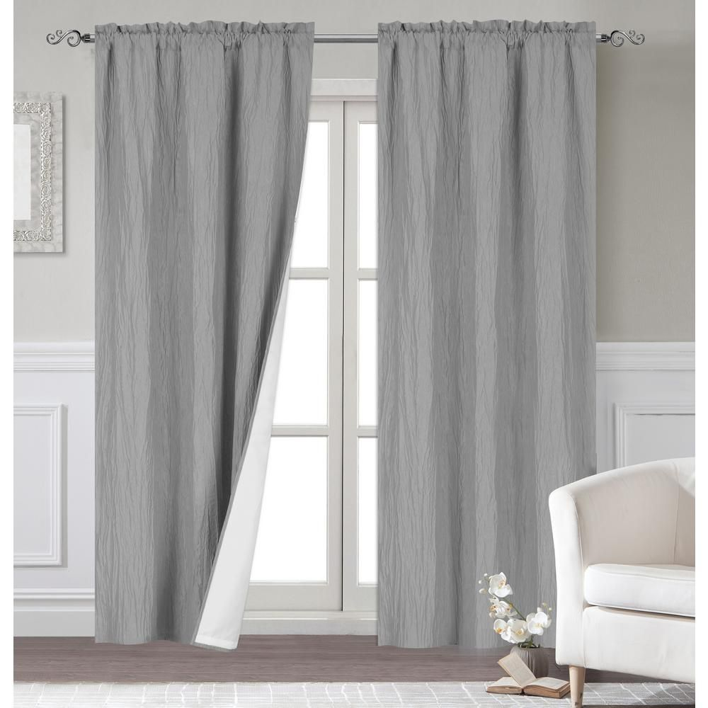 Dainty Home Venetian 96 In Polyester Extra Long Blackout Window