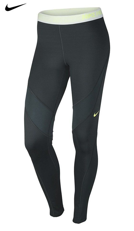 71c0c611751f21 $54.88 - Women's Nike Pro Hyperwarm Tight Seaweed/Hasta/White/Volt Size  Large