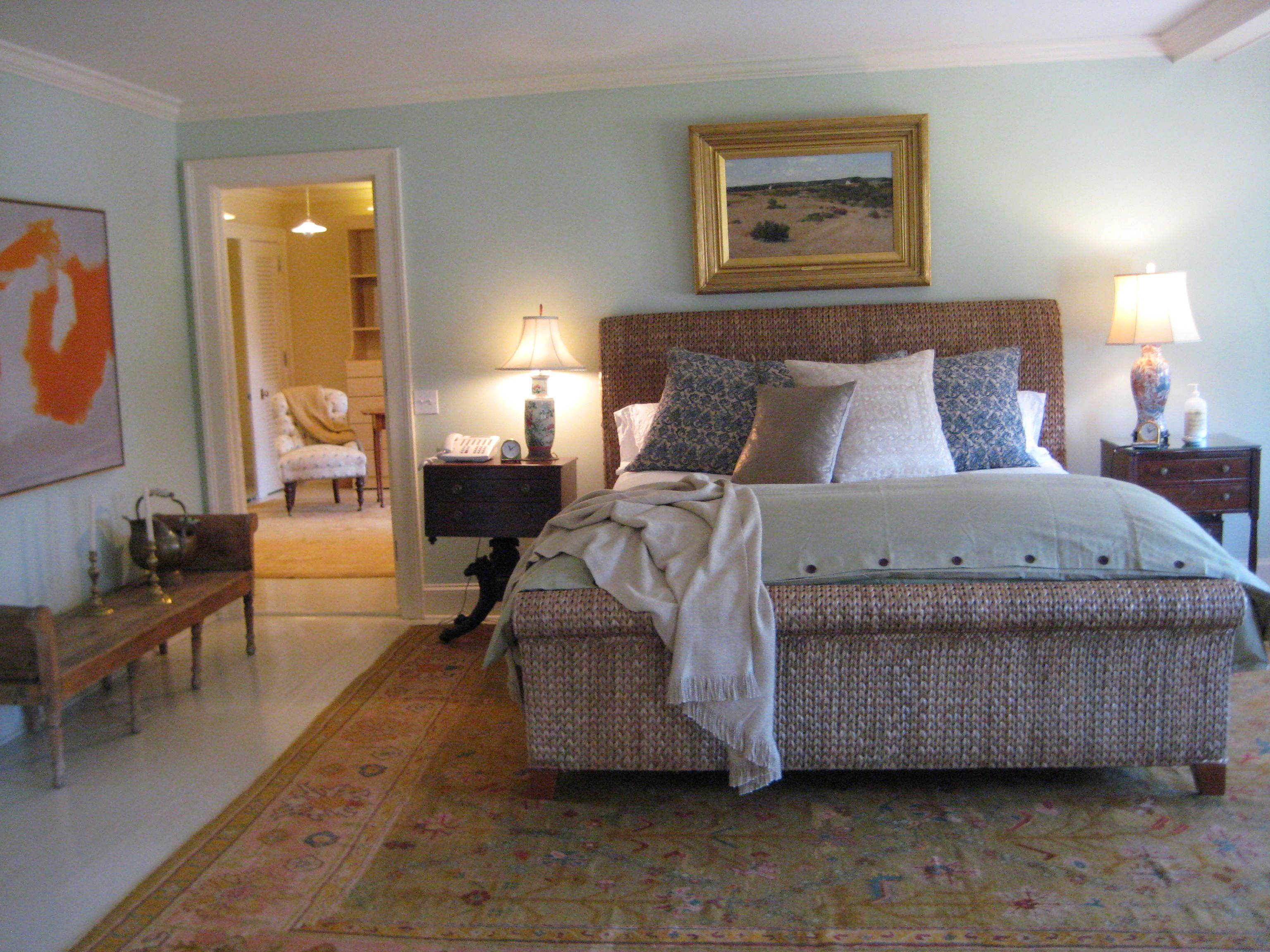 Seagrass beds furniture - One Of My Favorite Bedrooms I Decorated At A Beach House In The Hamptons Seagrass