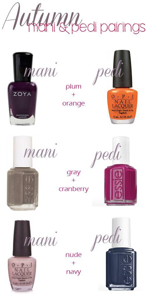Fall Mani Pedi Combinations Nail Polish