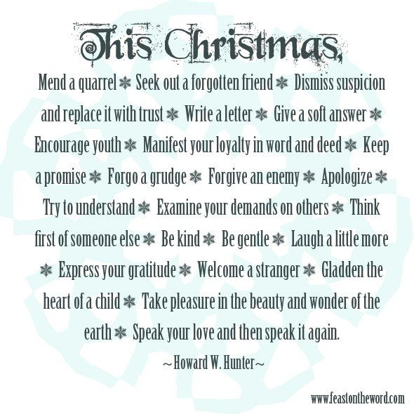Lds Christmas Quotes. QuotesGram By @quotesgram
