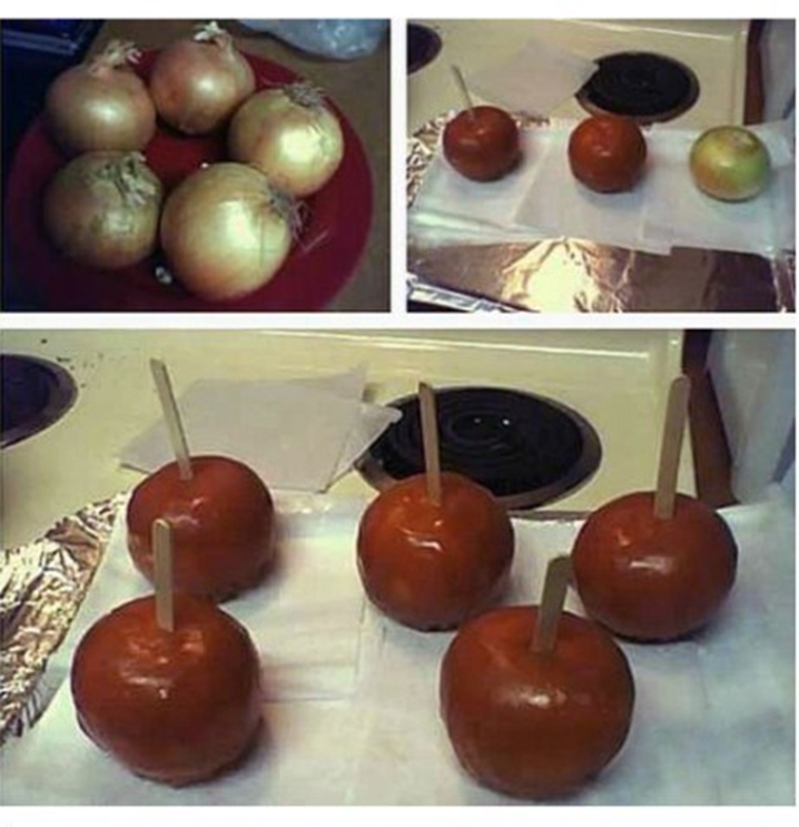 These carmel apples might make you cry!!  #AprilFools  #TwistGiggles