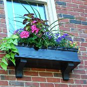 36 Black Window Boxes No Rot Pvc Window Boxes Charleston Style Can Be Painted Desired Shade 152 Black Window Box Window Box Window Planter Boxes