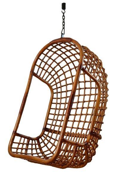 Hangstoel Rotan Buiten.De Trendy Hangstoel The Classic Donker Rotan Met Een Draagkracht Van