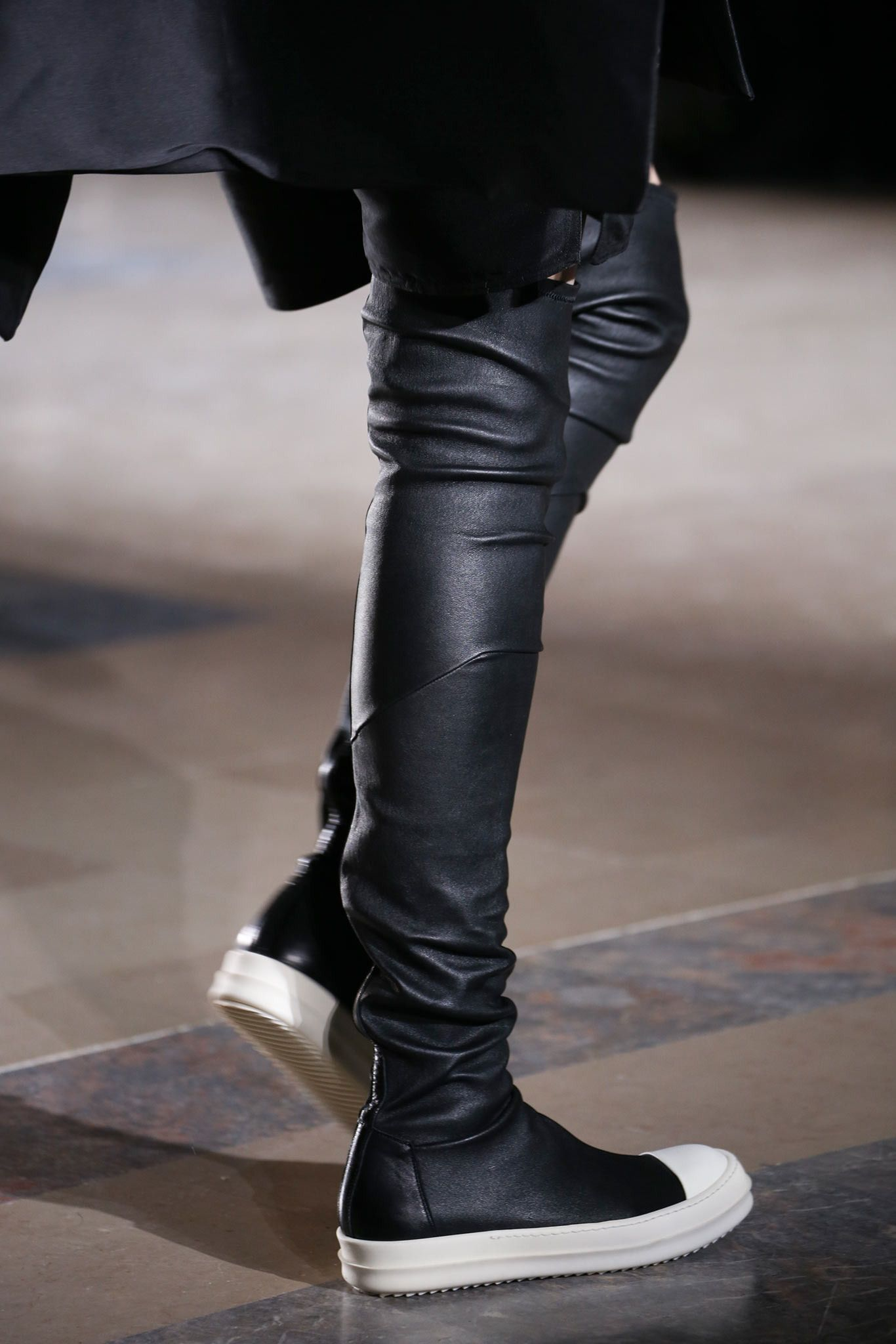 Rick Owens knee-length sneaker boots real cheap online low shipping fee cheap online cheap sale under $60 7DqJ8WVJaJ