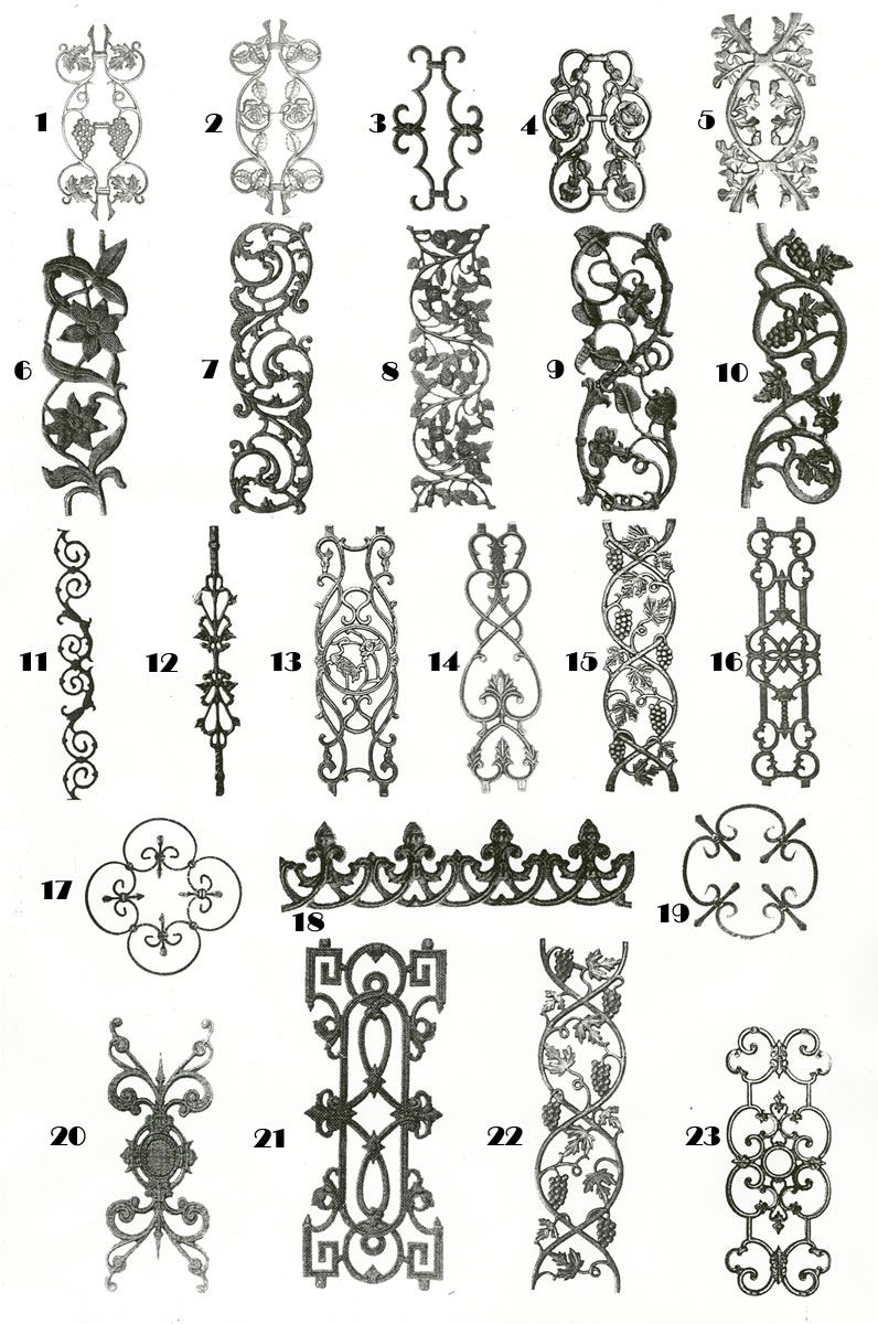 Wrought iron designs design bronze cast