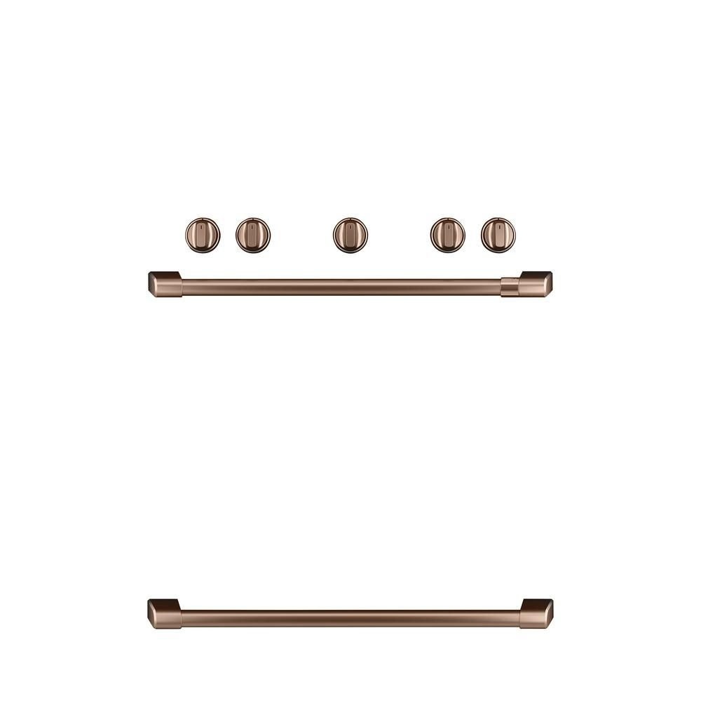 Cafe Freestanding Gas Range Handle And Knob Kit In Brushed Copper In 2019 Products Appliance Parts Oven Burner Kitchen Appliances
