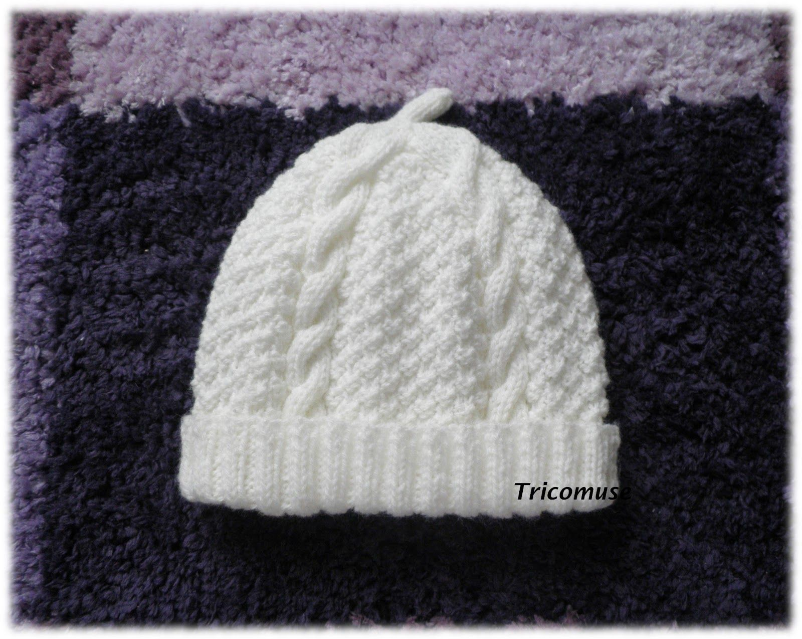 Populaires Tricot et compagnie: Brassière bébé irlandaise, le bonnet et les  TV09