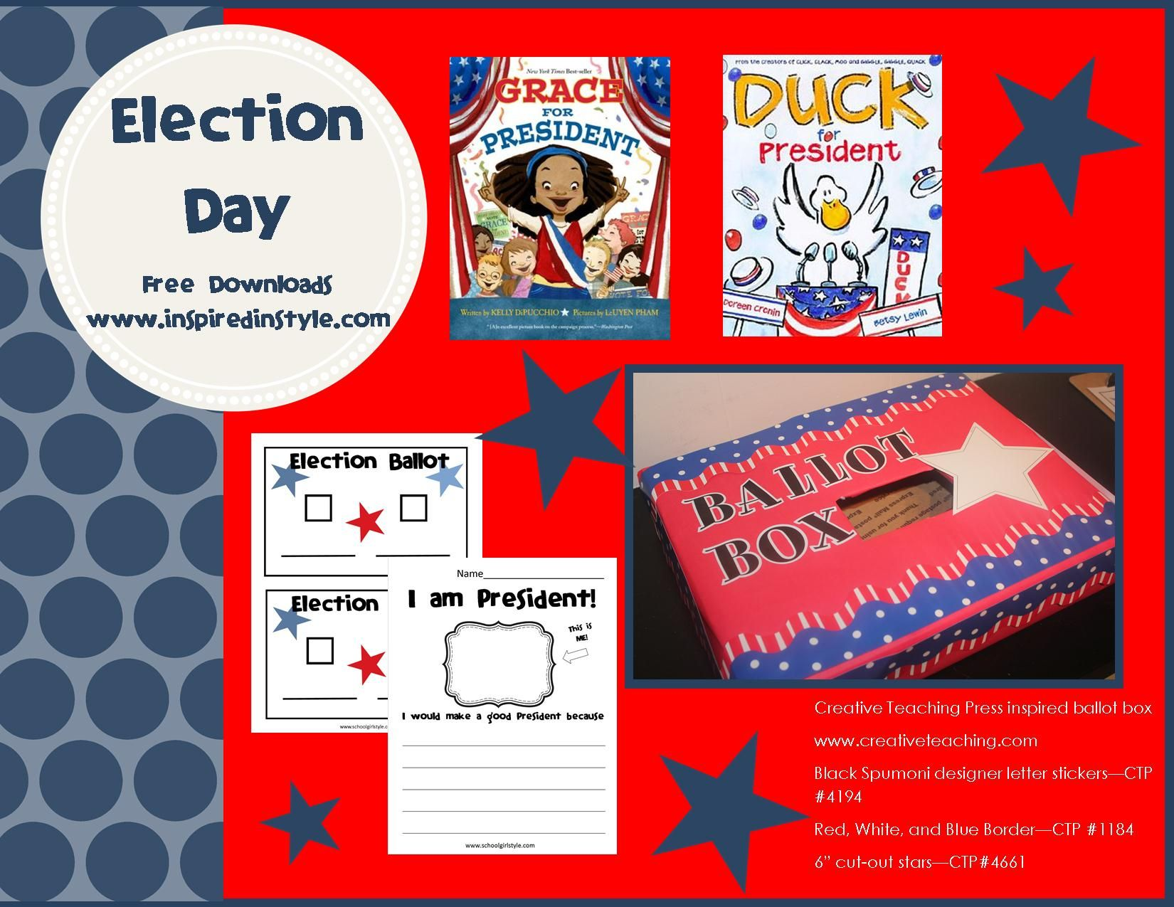 Election Day Freebies From Inspired In Style