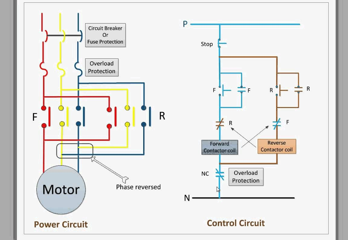 control circuit for forward and reverse motor youtube at wiring rh pinterest com