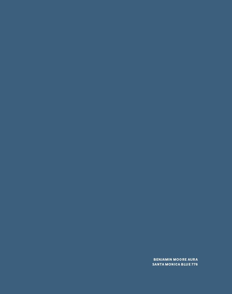 Benjamin Moore Aura Santa Monica Blue
