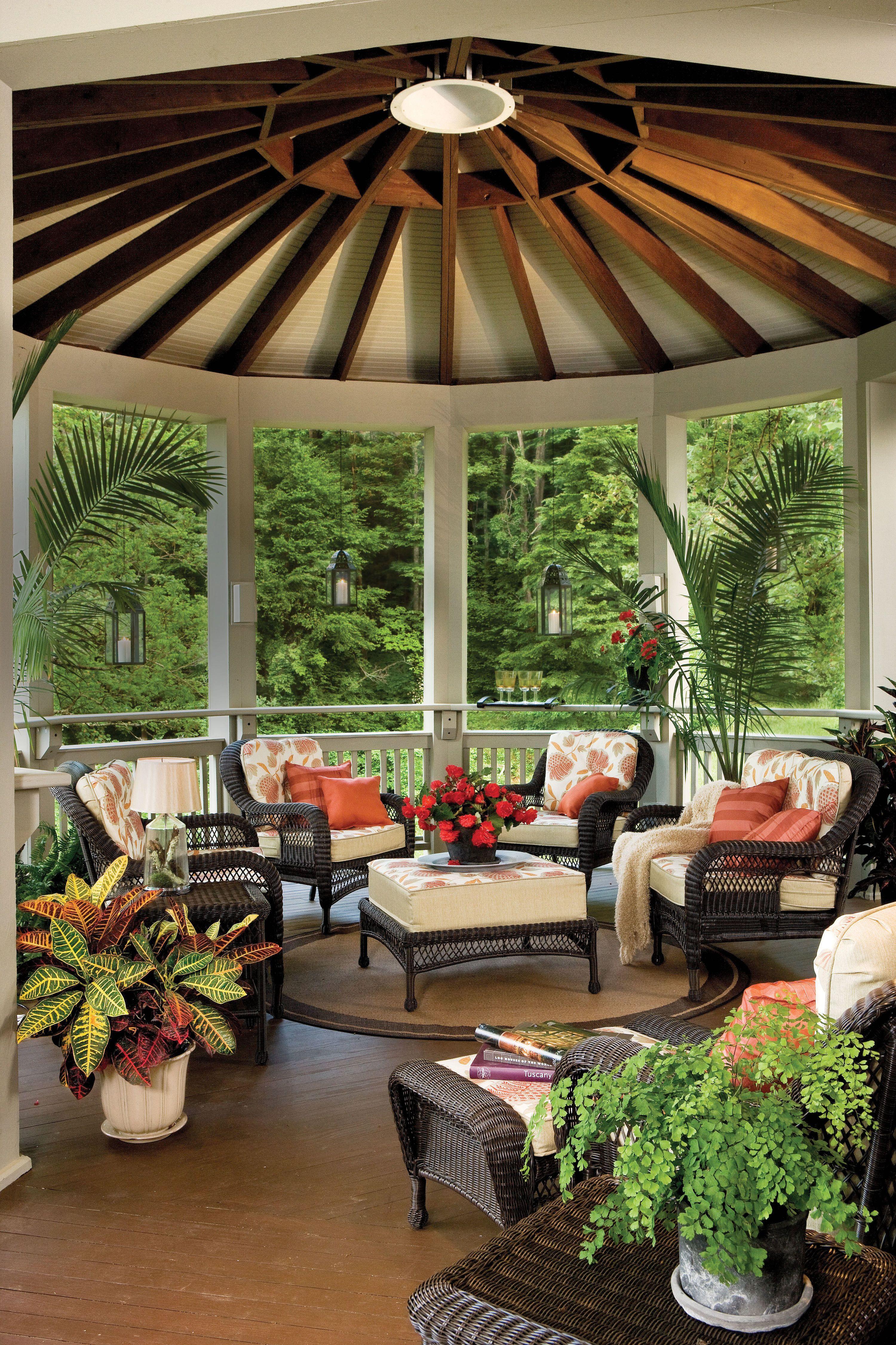 Appalachian Round Porch Patio Pinterest