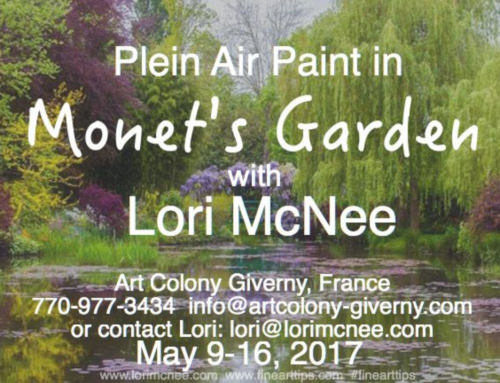 Plein Air Paint in Monet's Garden with Lori McNee