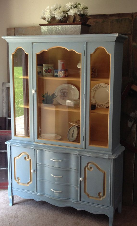 French Country Hutch Hand Painted By Karla Alex From Vintage Hip