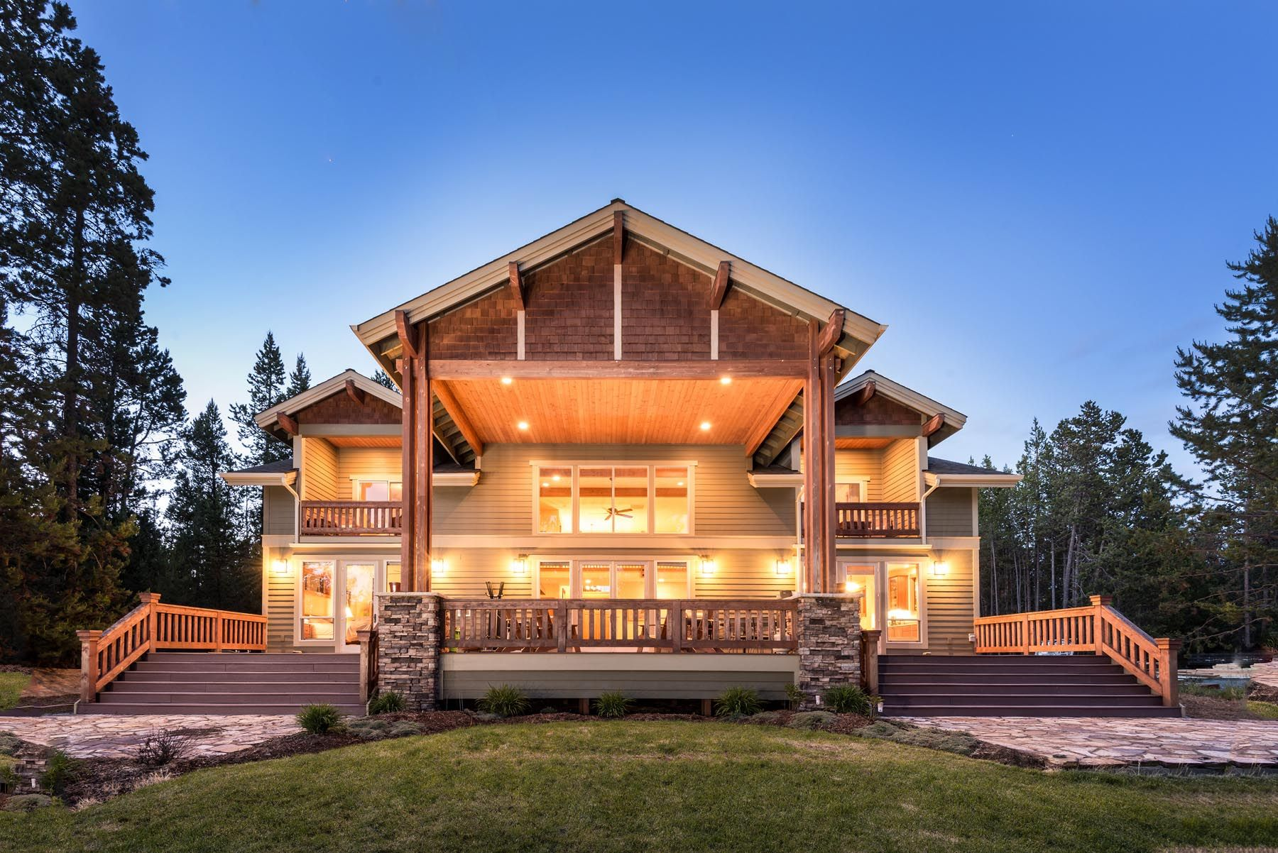 Custom homes photo gallery custom home builders in bend for Custom home design bend oregon