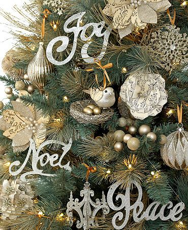 glitter accented christmas word ornament set ornaments pinterest