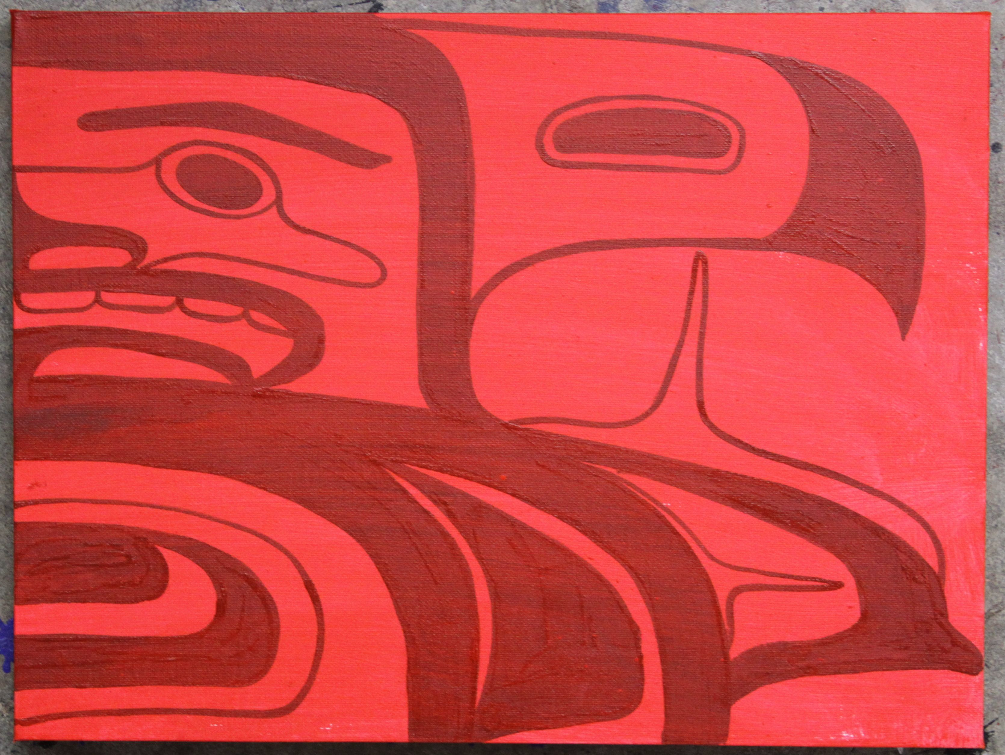 """Eagles Dance Original Painting   12""""x16""""   Acrylic on Canvas   Private Collection Vancouver, BC   September 2012"""