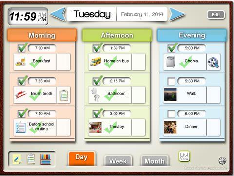 Visual Schedule Planner App by Good Karma Visual Schedule