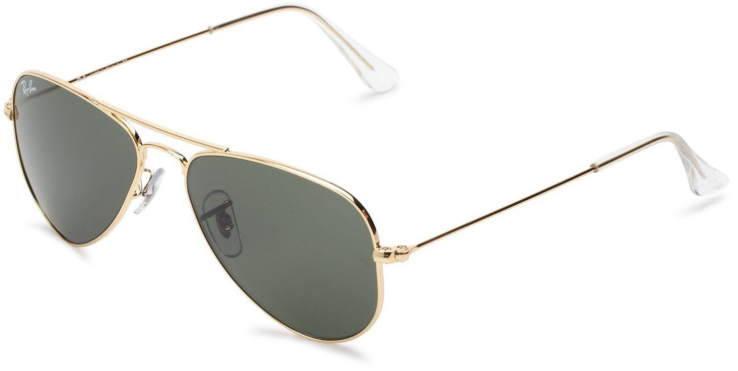 2a6eedd6fef5f Ray-Ban RB3044 L0207 Aviator Small Gold Frame Green Classic 52mm Lens  Sunglasses