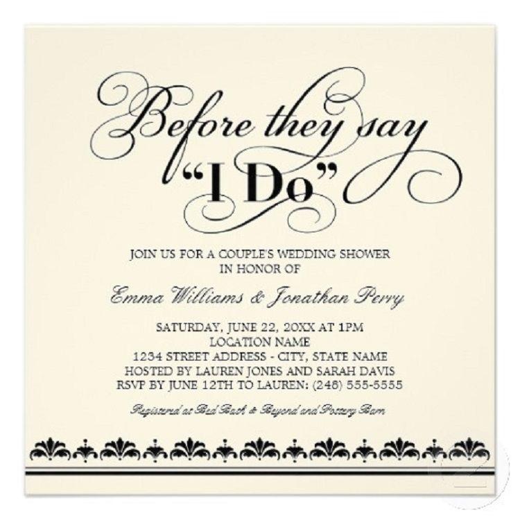 co ed bridal shower invitation wording
