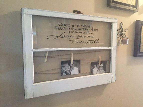 2 Pane Window Frame Wedding Picture Frame Quote On Window
