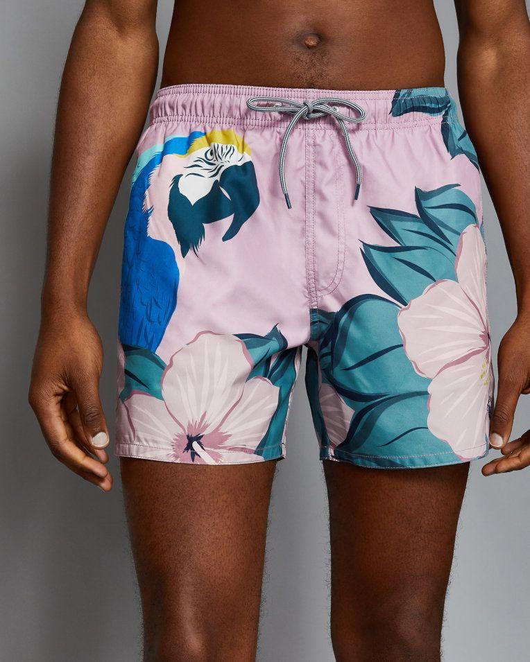 ba608d0ff0 Parrot print swim shorts - Dusky Pink | Swimwear & Beachwear | Ted Baker