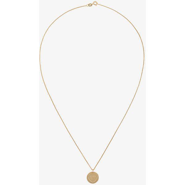 Malaika Raiss feather pendant necklace - Metallic 1n3zGBS1Y