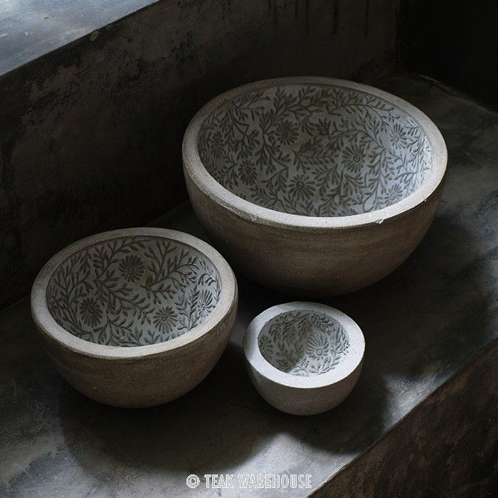 Floral Lined Bowl